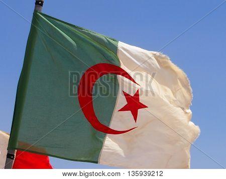 flag of Algeria - a heraldic symbol of the country