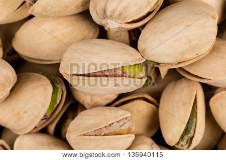 Pistachio Nuts Arranges As Background