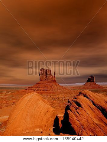 Monument Valley north east Arizona Navajo Nation