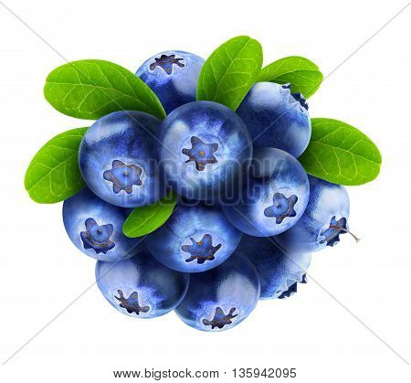 Isolated Blueberries