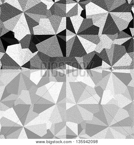 Black, white and grey abstract background with different forms