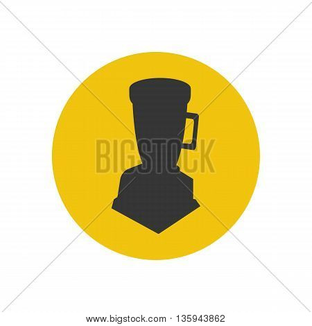 Blender silhouette icon on the yellow background. Vector illustration