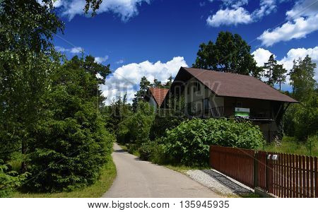 Sevetin village in south Bohemia in sunny summer day