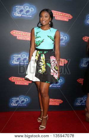 LOS ANGELES - JUN 23:  Coco Jones at the 100th DCOM Adventures In Babysitting LA Premiere Screening at the Directors Guild of America on June 23, 2016 in Los Angeles, CA