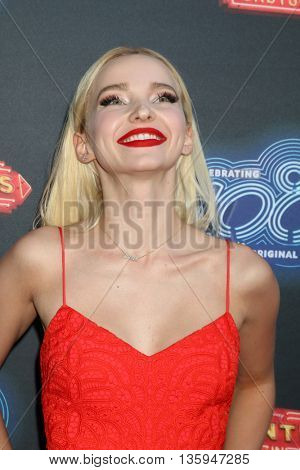 LOS ANGELES - JUN 23:  Dove Cameron at the 100th DCOM Adventures In Babysitting LA Premiere Screening at the Directors Guild of America on June 23, 2016 in Los Angeles, CA