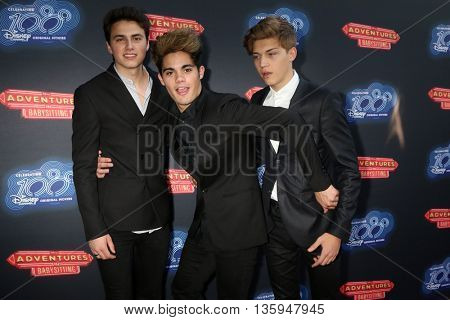 LOS ANGELES - JUN 23:  Forever In Your Mind, Liam Attridge, Ricky Garcia, Emery Kelly at the Adventures In Babysitting Premiere Screening at the DGA on June 23, 2016 in Los Angeles, CA