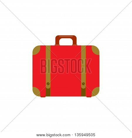 Suitcase icon. Flat design style modern vector illustration. Isolated on stylish color background. Flat long shadow icon. Elements in flat design.