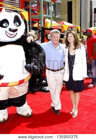 Dustin Hoffman at the Los Angeles premiere of 'Kung Fu Panda' held at the Grauman's Chinese Theater in Hollywood, June 1, 2008.