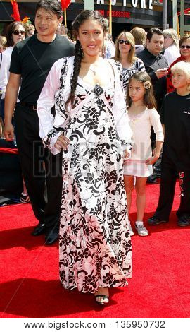Q'orianka Kilcher at the Los Angeles premiere of 'Kung Fu Panda' held at the Grauman's Chinese Theater in Hollywood, June 1, 2008.