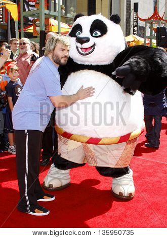 Jack Black at the Los Angeles premiere of 'Kung Fu Panda' held at the Grauman's Chinese Theater in Hollywood, June 1, 2008.