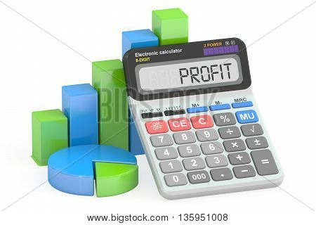 Profit concept 3D rendering isolated on white background