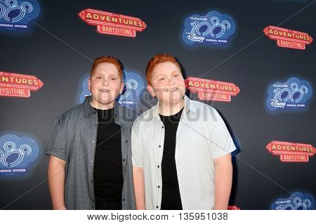 LOS ANGELES - JUN 23:  Benjamin Royer, Matthew Royer at the 100th DCOM Adventures In Babysitting LA Premiere Screening at the Directors Guild of America on June 23, 2016 in Los Angeles, CA