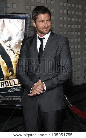 Gerard Butler at the Los Angeles premiere of 'RockNRolla' held at the ArcLight Theater in Los Angeles, USA on October 6, 2008.