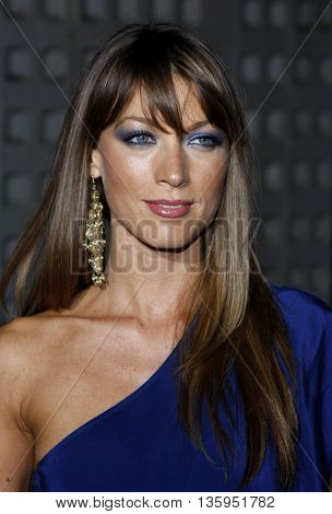 Natalie Zea at the Los Angeles premiere of 'RockNRolla' held at the ArcLight Theater in Los Angeles, USA on October 6, 2008.