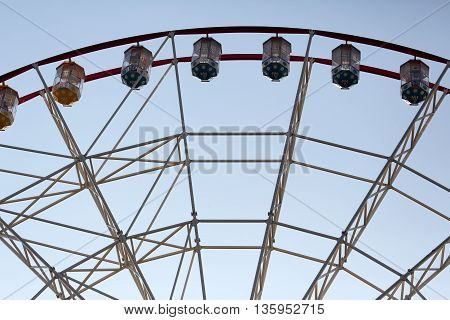 the part of the big ferris wheel