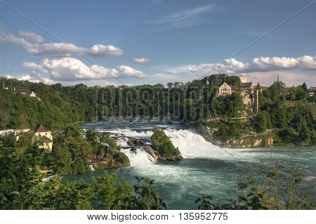 Rhine Falls, the biggest European waterfall, Switzerland (HDR version)