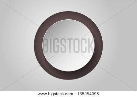 Abstract background with 3D circle and own shadow that can be used as wallpaper infographics element or backdrop.