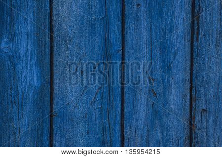 Wooden blue horizontal boards. Background for design
