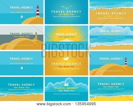 set of backgrounds for business cards for travel agency business cards for travel agency