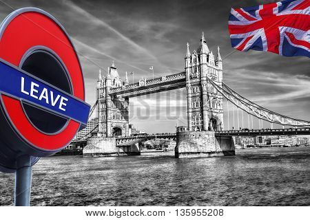 Britain Votes To Leave European Union,tower Bridge In London, England, United Kingdom
