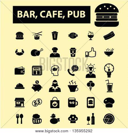 bar, cafe, pub icons