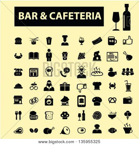 bar, cafe, cafeteria, pub icons