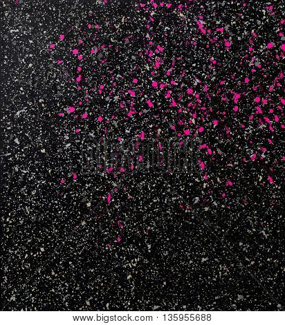 Vector splatters on a black background, texture dirty background