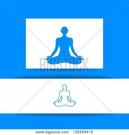 Concept Identity presentation design for Yoga studio, Health Care center, Beauty salon, Spa, Relax, Meditation and itc. Vector graphic illustration.