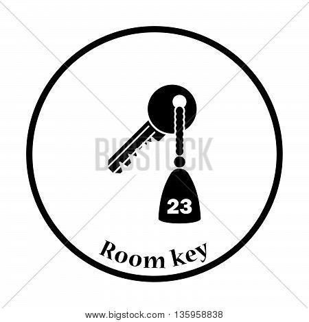 Hotel Room Key Icon