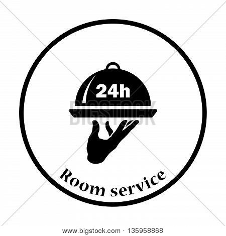 24 Hour Room Service Icon