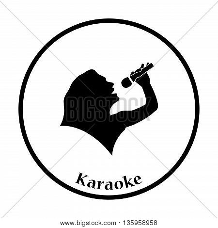 Karaoke Womans Silhouette Icon