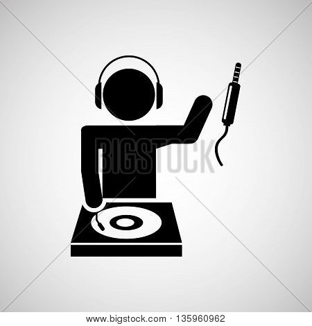 dj icon silhouette design, vector illustration eps10 graphic