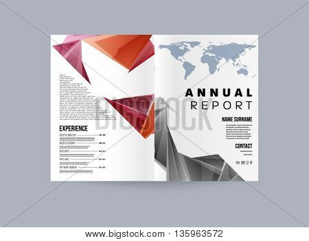 Abstract Background. Geometric Shapes and Frames for Presentation, Annual Reports, Flyers, Brochures, Leaflets, Resume, Posters and Document Cover Pages Design. A4 Title Sheet Template