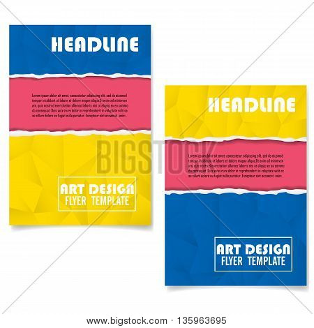 Colorful Geometric Book Cover Layout Design.Abstract Art Presentation Background.LeafletFlyer or Brochure Cover Layout Design.Annual Report Cover Template in A4 size Layout Design.Vector Illustration