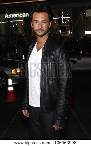 Rodrigo Santoro at the Los Angeles premiere of 'Max Payne' held at the Grauman's Chinese Theater in Los Angeles, USA on October 13, 2008.