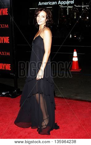 Marianthi Evans at the Los Angeles premiere of 'Max Payne' held at the Grauman's Chinese Theater in Los Angeles, USA on October 13, 2008.
