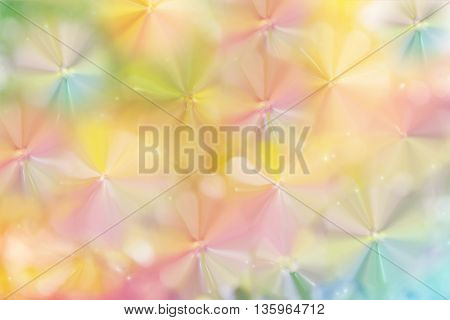 Dreamy Pastel Abstract Flower And Butterfly Background