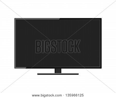 LCD TV monitor on white background vector illustration