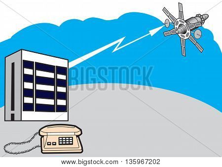 Illustration concept of symbolic the telecommunications system