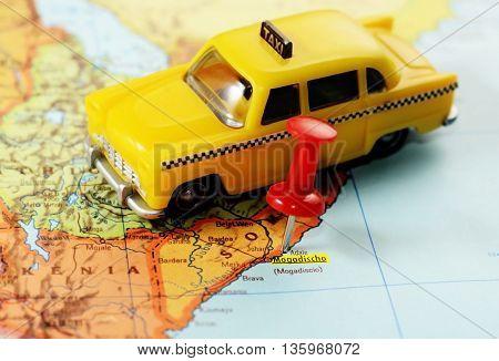 Africa Map Somalia Mogadishu Taxi