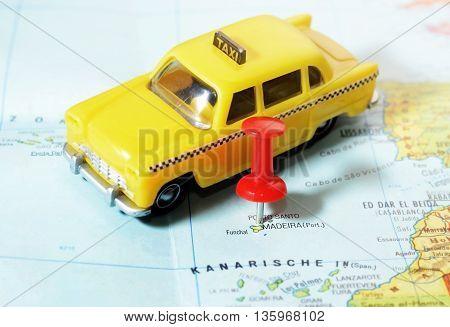 Madeira Island Map Taxi