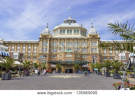 The Hague The Netherlands - June 17 2016: The Kurhaus of Scheveningen in The Hague was built in 1884 and 1885 by German architects.