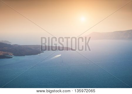 Beautiful View Of The Sea And Islands At Sunset