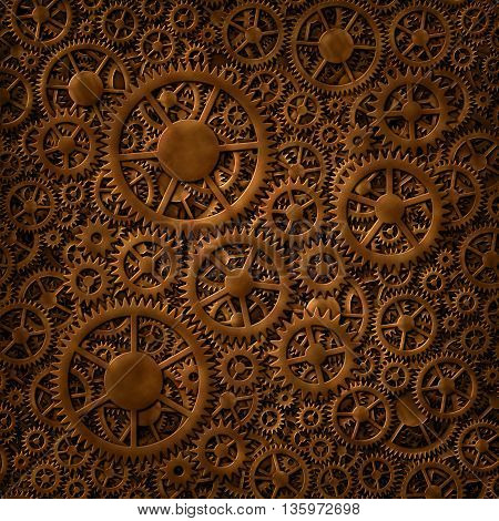 Gears Copper Background Pattern
