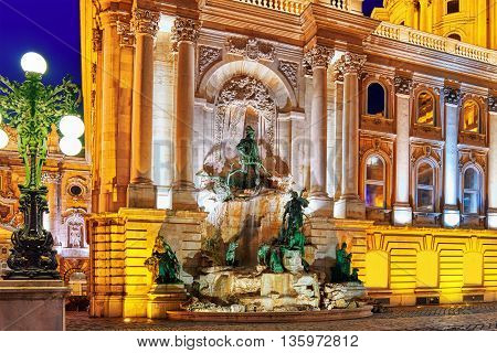 Matthias Fountain-is A Monumental Fountain Group In The Western Forecourt Of Buda Castle, Budapest.