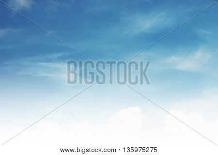 Beautiful blue sky and white clouds, sky background
