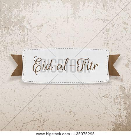 Eid al-Fitr decorative greeting Emblem. Vector Illustration