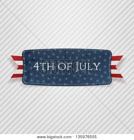 4th of July national Tag. Vector Illustration