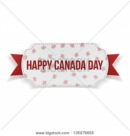 Happy Canada Day realistic Banner. Vector Illustration