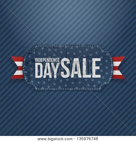Independence Day Sale national Tag. Vector Illustration
